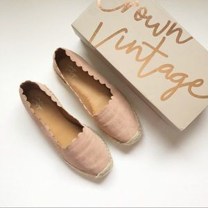 Crown Vintage Pink Scalloped Espadrille Platform